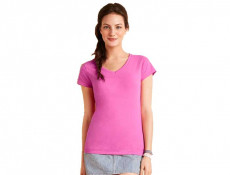 Ladies Ring Spun V-Neck T Shirt