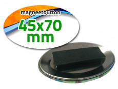 45x70 mm Magneetbutton dubbel Ovaal