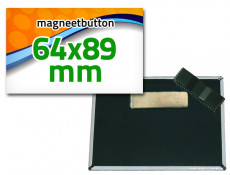 64x89 mm Magneetbutton dubbel