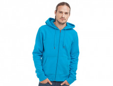 Mens Sweater Hood Zip Active